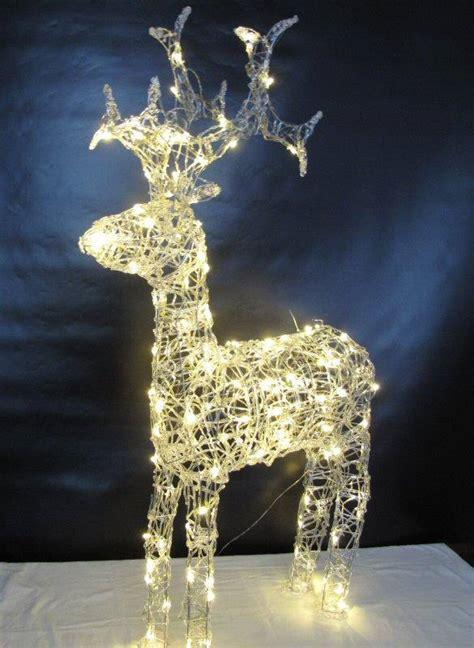 licht deko weihnachten rentier acryl 90 cm 80 led warmes licht aussen weihnachten dekoration