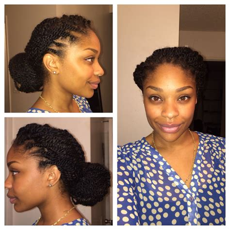 marley twists conservative style for work puff love in