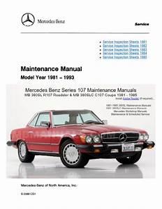 Mercedes Benz 107 Maintenance Manuals