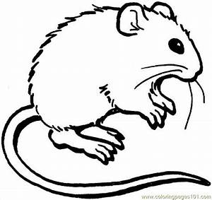 Mouse 3 Coloring Page Coloring Page - Free Mouse Coloring ...
