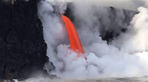 hawaii s epic lava fire hose has returned with a