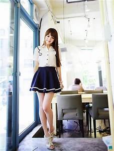 Cute skirt cute outfit K Fashion (u2267u2207u2266)/ casual cute outfit Cute Korean Fashion korea ...