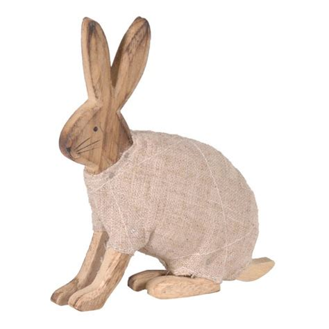 wooden rabbit  coat