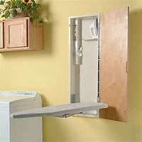 ironing board cabinet Ironing Board Storage Cabinet: A Practical Way of Organizing the Ironing Station | HomesFeed