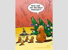 Weihnachtsbaum und Biber Cartoons STUMPP VOLLVERDUMMT!