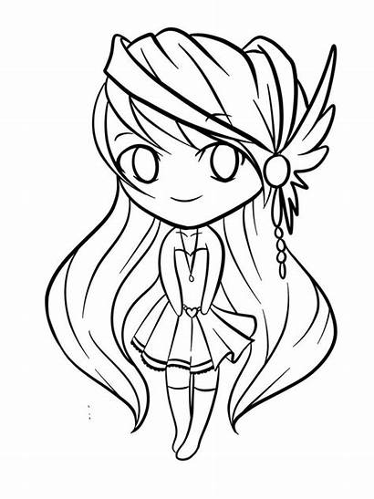 Coloring Chibi Pages Draw
