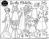 Paper Dolls Doll Coloring Printable Pages Marisole 1940s Frozen Pdf Monday Thin Marisol Sheets Paperthinpersonas Colouring 1940 Personas Printables Clothing sketch template