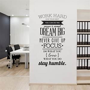 aliexpresscom buy work hard inspiring vinyl wall With inspiring tree wall decals for living room