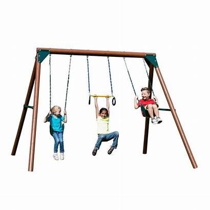 Swing Sets Wooden Slide Clearance Wood Orbiter