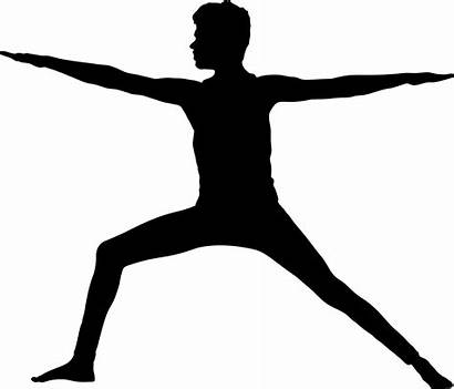 Yoga Silhouette Pose Poses Clipart Male Exercise