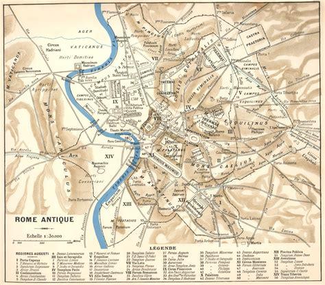 la cuisine de la rome antique carte de rome plan des 120 principaux lieux