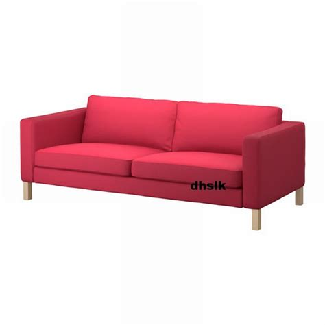 ikea sofa covers canada ikea karlstad sofa slipcover 3 seat cover sivik pink red