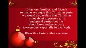 prayer for christmas party youtube