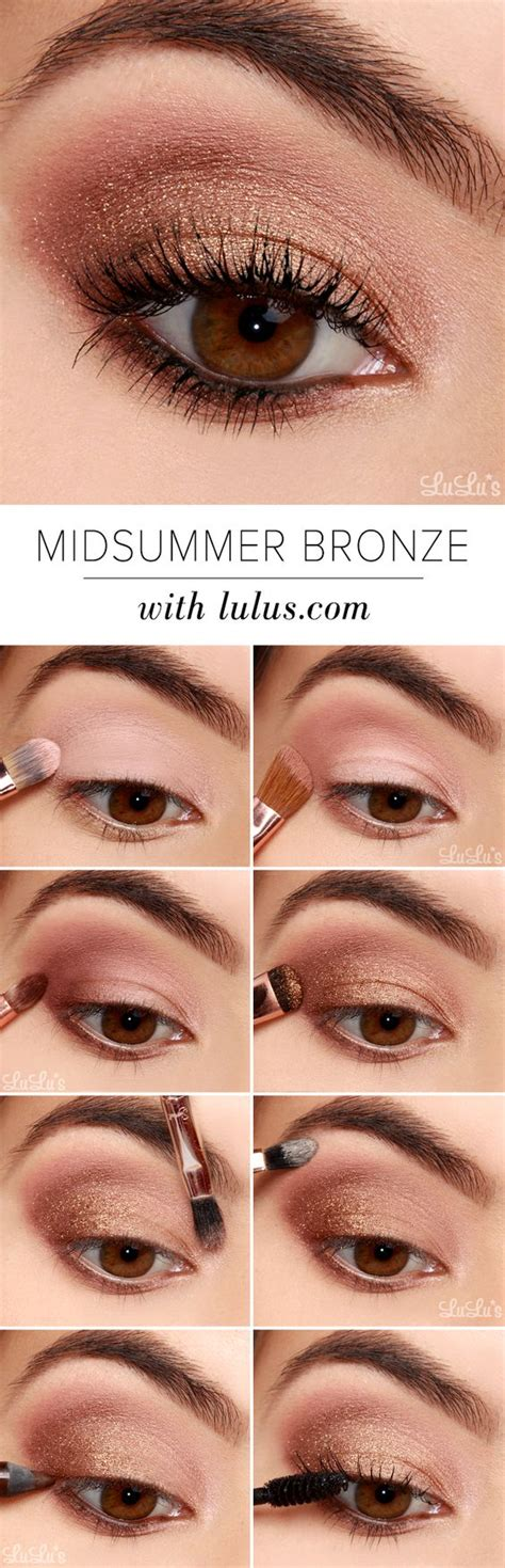 super easy step  step eyeshadow tutorials  beginners pretty designs