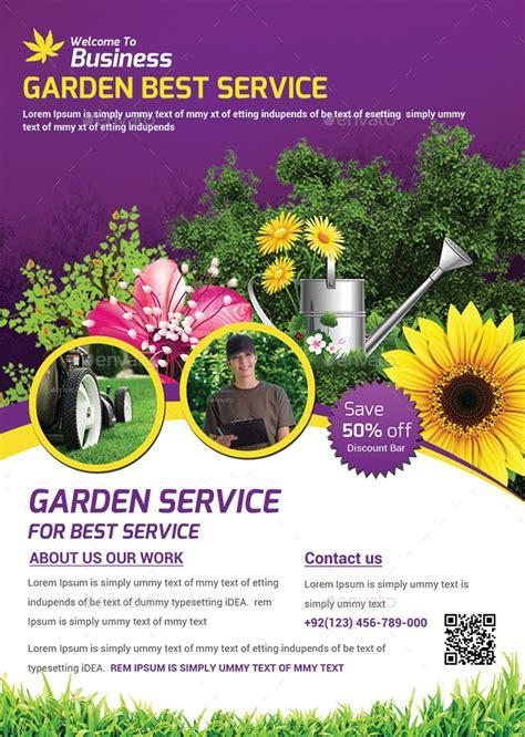 garden services flyer template  afjamaal graphicriver