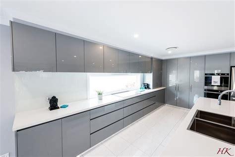 grey white modern kitchen harrington kitchens