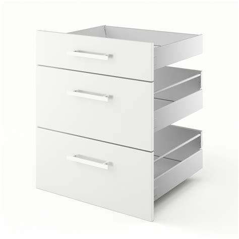 ikea cuisine premier prix 3 tiroirs de cuisine blanc 3d60 délice l60 x h70 x p55 cm leroy merlin