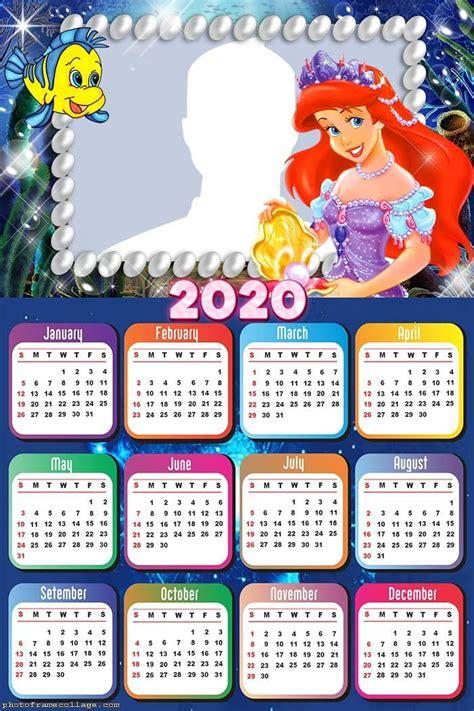 princess ariel dress calendar