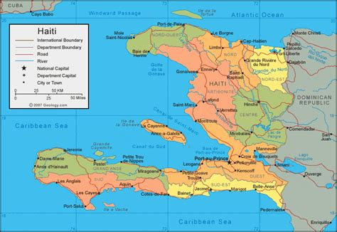 haiti map  satellite image