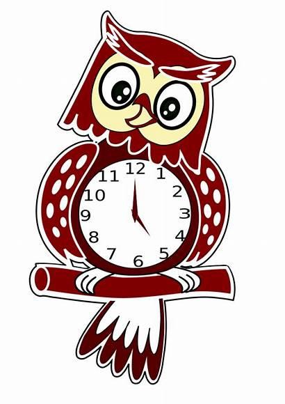Clock Owl Clipart Vector Clip Transparent Clocks