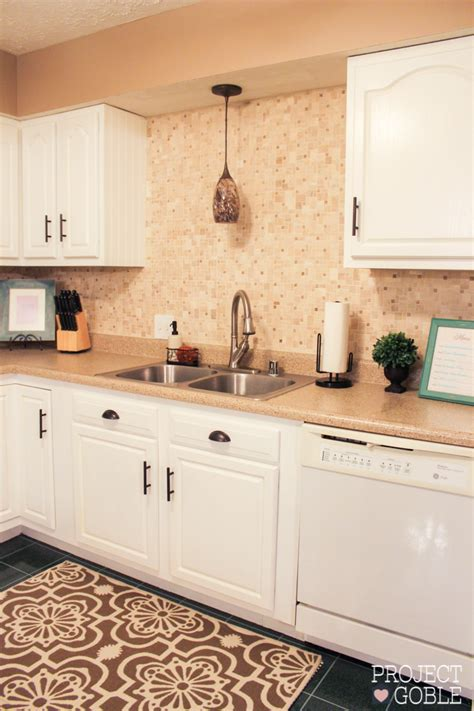 Kitchen Transformation: White Cabinets & Painted Counters