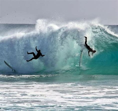 surfing surf wipeout friends beach extreme sports double surfers female