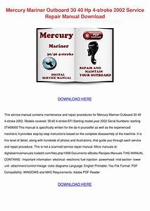 Mercury Mariner Outboard 30 40 Hp 4 Stroke 20 By