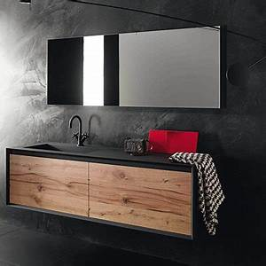 meuble salle de bain bois massif espace aubade With salle de bain design avec meuble haut salle de bain castorama