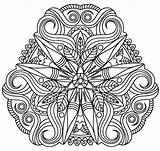 Bead Coloring Paper Mandala Beads Beaded Adult Badd sketch template