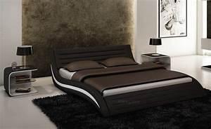 Lit Chez But : lit lit en cuir lits en cuir lit cuir v ritable lit et matelas ~ Teatrodelosmanantiales.com Idées de Décoration