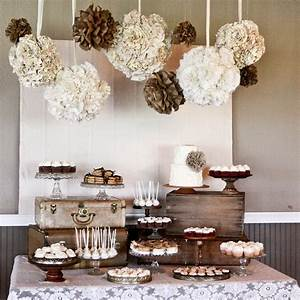 Kara's Party Ideas Burlap and Lace Wedding Dessert Table