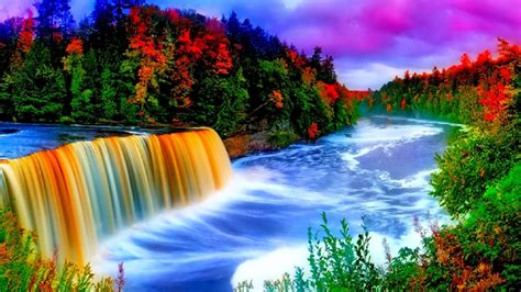 Waterfall Background by Colorful Waterfall Background 9665 Wallpapers13