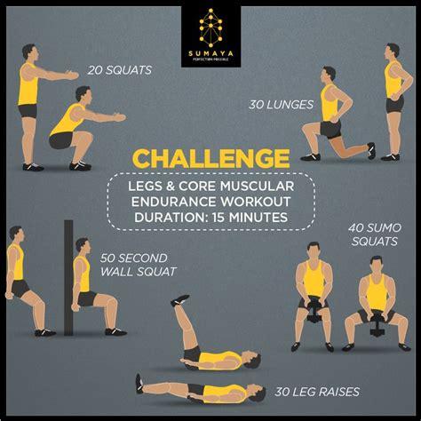 endurance muscular legs improve fitness workout core exercises workouts challenge exercise training designed sumaya lunge squat squats health