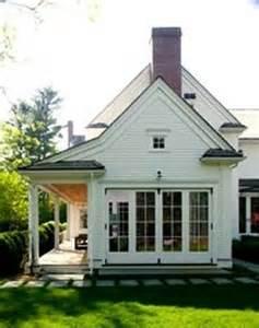 White Farm House Side Porch
