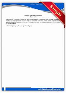 Real Estate Letter Of Intent Template Free Printable Vending Machine Agreement Form Generic