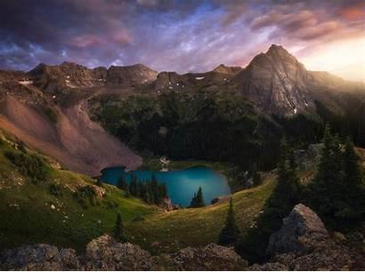 Colorado Mountains Mountain Scenes Lake Sunset Snow