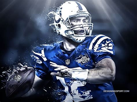 Andrew Luck Indianapolis Colts Foot Americain
