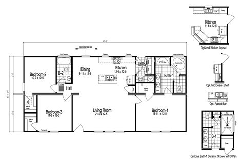 The Bristol Manufactured Home Floor Plan Or Modular Floor