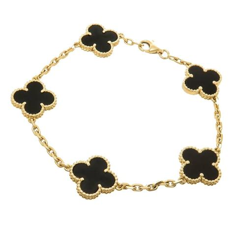 Van Cleef And Arpels Alhambra Onyx Gold Bracelet At 1stdibs. Pave Diamond Anniversary Band. Origami Owl Lockets. Award Rings. Bangles. 14ct Gold Chains. Gold Double Necklace. Necklace Tanzanite. Black Plastic Rings