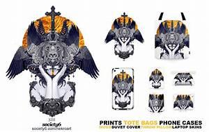 Black feathers Society6 by NekroXIII on DeviantArt