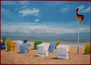 Strandbilder Auf Leinwand : morgens am strand malerei landschaft strand von michael oerter bei kunstnet ~ Watch28wear.com Haus und Dekorationen
