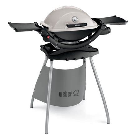 weber gasgrill cing weber q120 1 burner portable lp gas grill with stand walmart