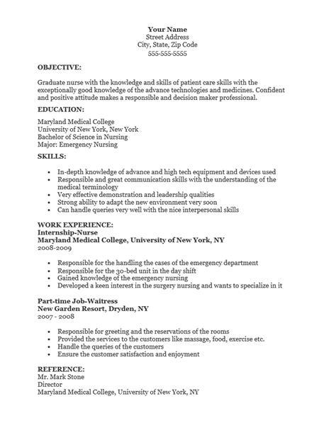free graduate resume template sle ms word