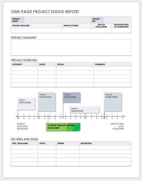 project report templates smartsheet