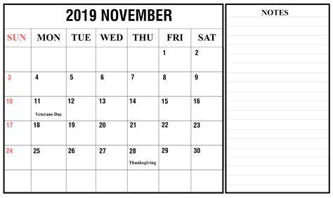 november  calendar printable template   word excel