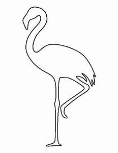 Flamingo pattern. Use the printable outline for crafts ...