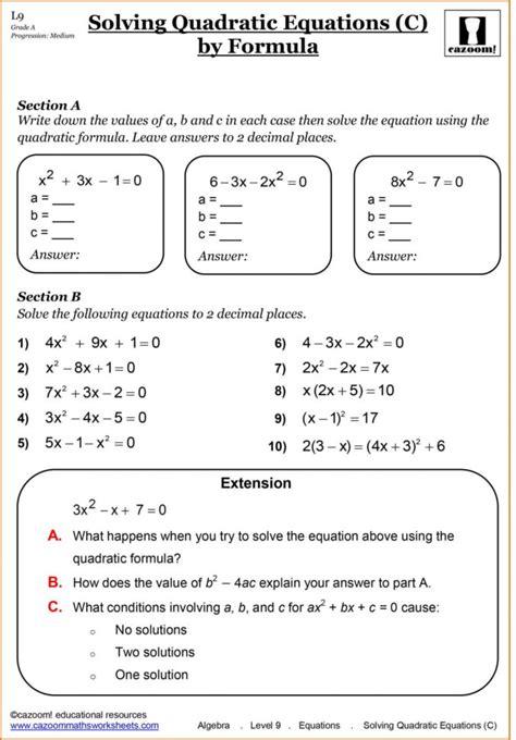 grade algebra worksheets  printable  printable