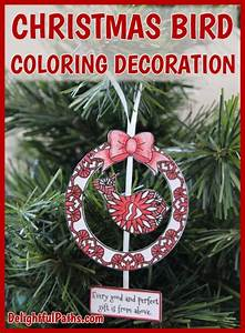 How To Make An Adult Coloring Christmas Decoration  Free