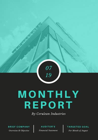 customize  monthly report templates  canva