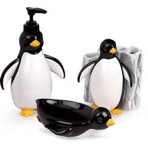 penguin party 3 piece bath accessory set bath walmart com